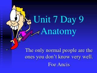 Unit 7 Day 9   Anatomy