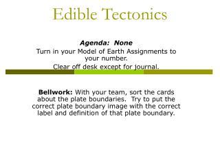 Edible Tectonics
