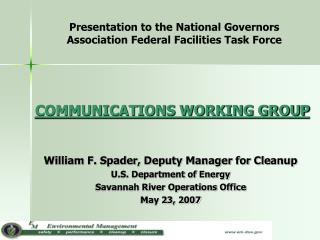 COMMUNICATIONS WORKING GROUP