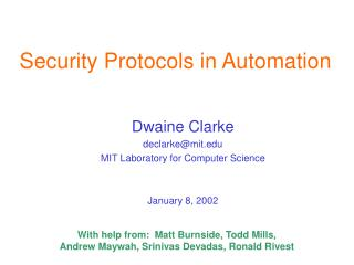 Security Protocols in Automation