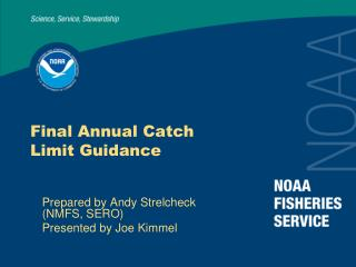 Final Annual Catch Limit Guidance