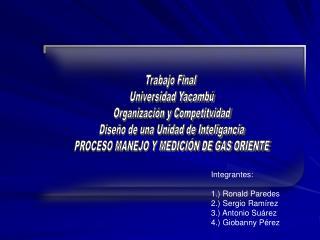 Trabajo Final  Universidad Yacamb� Organizaci�n y Competitvidad