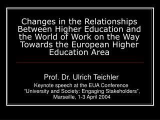 Prof. Dr. Ulrich Teichler