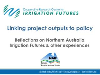 Linking project outputs to policy