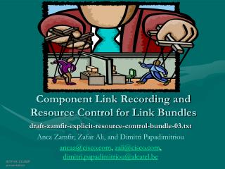 Component Link Recording and Resource Control for Link Bundles