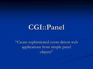 CGI::Panel