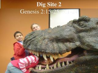 Dig Site 2  Genesis 2:15-25, 3:1-24