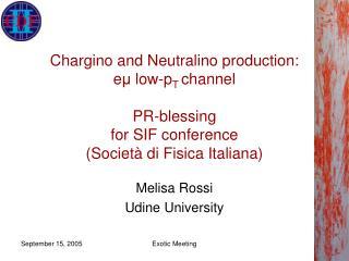 Melisa Rossi Udine University