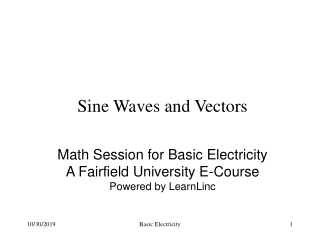 Unit 15 Basic Trigonometry and Vectors