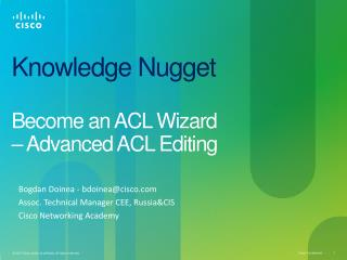 Knowledge Nugget Become an ACL Wizard  – Advanced ACL Editing