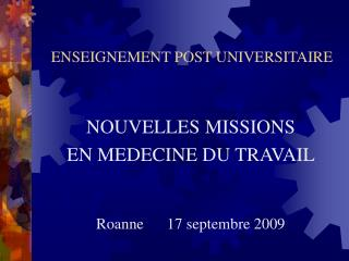 ENSEIGNEMENT POST UNIVERSITAIRE