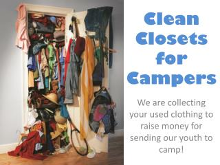 Clean Closets for Campers