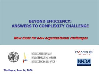 BEYOND EFFICIENCY:  ANSWERS TO COMPLEXITY CHALLENGE