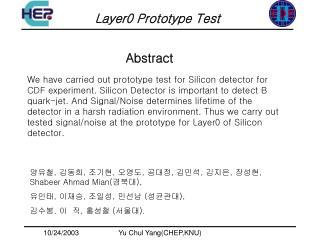 Layer0 Prototype Test