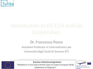 Introduction to EU Civil Judicial Cooperation