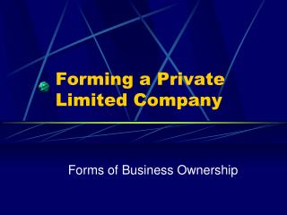 Forming a Private Limited Company
