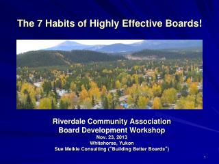 The 7 Habits of Highly Effective Boards!