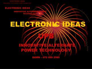 ELECTRONIC IDEAS