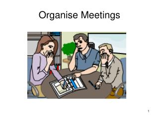 Organise Meetings
