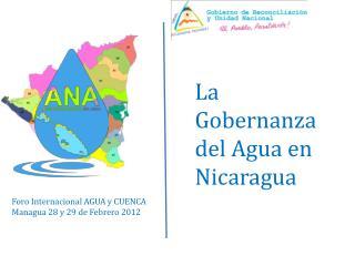 La Gobernanza del Agua en Nicaragua
