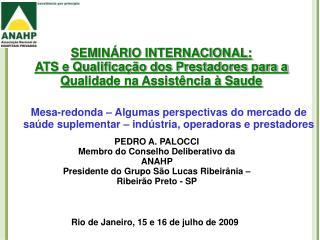 SEMINÁRIO INTERNACIONAL: