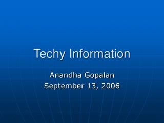 Techy Information