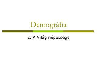 Demográfia