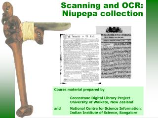 Scanning and OCR: Niupepa collection
