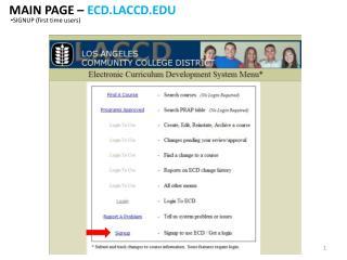 MAIN PAGE –  ECD.LACCD.EDU