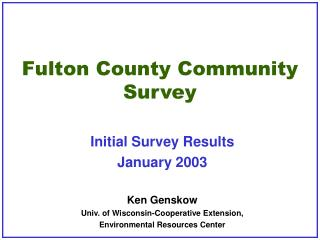 Fulton County Community Survey