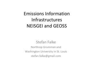 Emissions Information Infrastructures NEISGEI and GEOSS