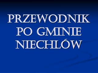Przewodnik po Gminie Niechlów