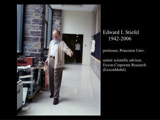 Edward I. Stiefel     1942-2006 professor, Princeton Univ.