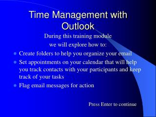 Time Management with Outlook