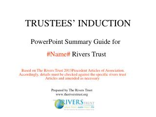 TRUSTEES �  INDUCTION