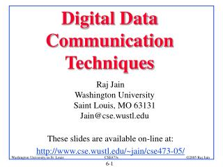 Digital Data Communication  Techniques
