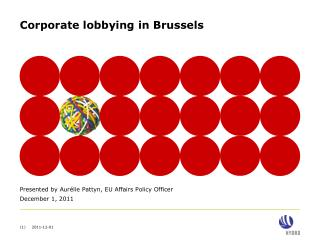 Corporate lobbying in Brussels