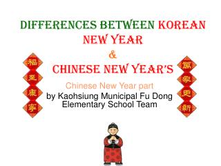 Differences between  Korean New Year & Chinese New Year's