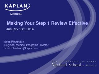 Making Your Step 1 Review Effective
