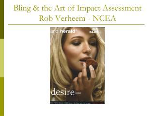 Bling & the Art of Impact Assessment Rob Verheem - NCEA
