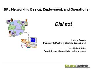 BPL Networking Basics, Deployment, and Operations