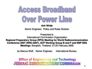 Access Broadband Over Power Line