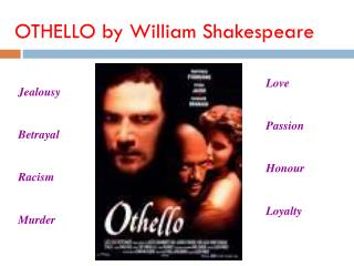 describing the tragic hero othello in william shakespeares othello William shakespeare's play othello, the moor of venice concerns the  right to  argue that othello fits well in the description of a tragic hero by aristotle since his .