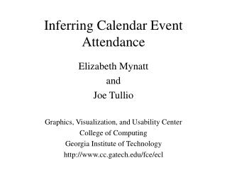 Inferring Calendar Event Attendance