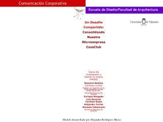 Centro De investigación y Gestión en Diseño IMASGE Rossana Bastías Diseñadora Gráfica