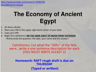 The Economy of Ancient Egypt