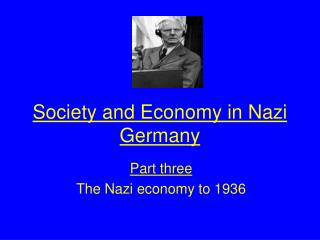 Society and Economy in Nazi Germany