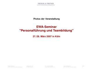 Photos der Veranstaltung EWA-Seminar