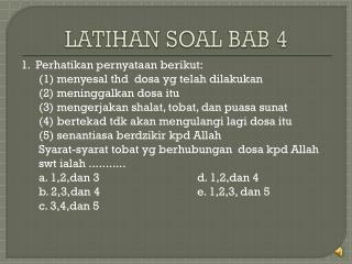 LATIHAN SOAL BAB 4