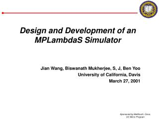 Design and Development of an MPLambdaS Simulator